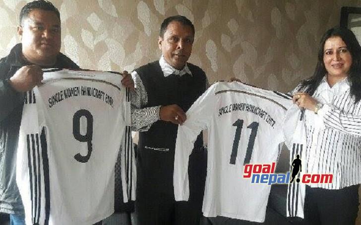 Single Women Handicrafts Enterprises Sponsor Shining Sun Football Team Kailali