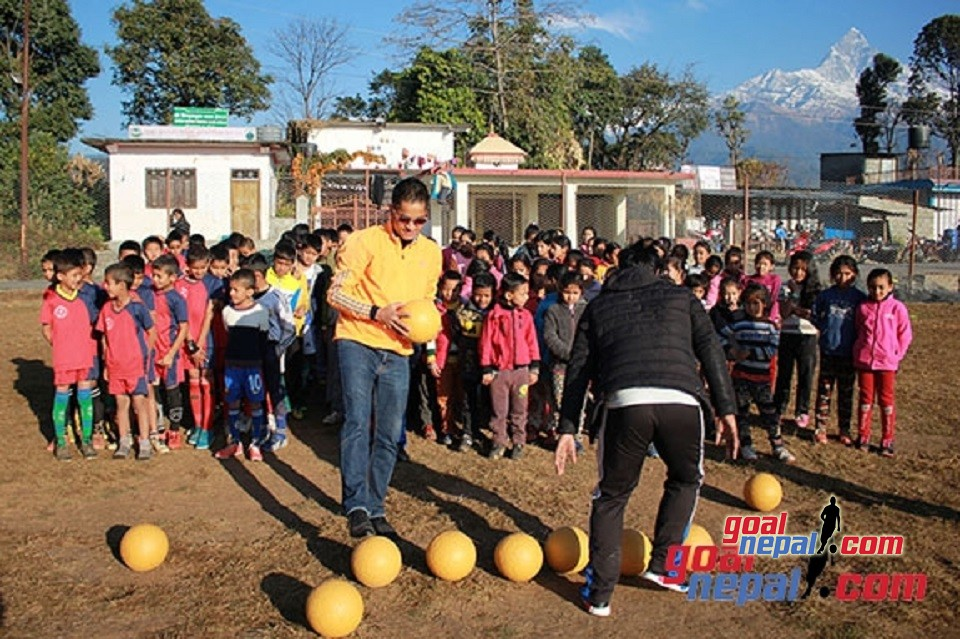 GoalNepal Foundation Donates 10 Indestructible Footballs To Bishnupaduka Football Academy
