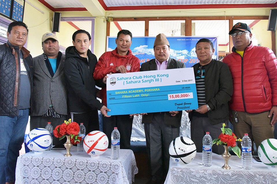 Sahara Hong Kong Hands Over Rs 15 Lakhs To Sahara Club Pokhara