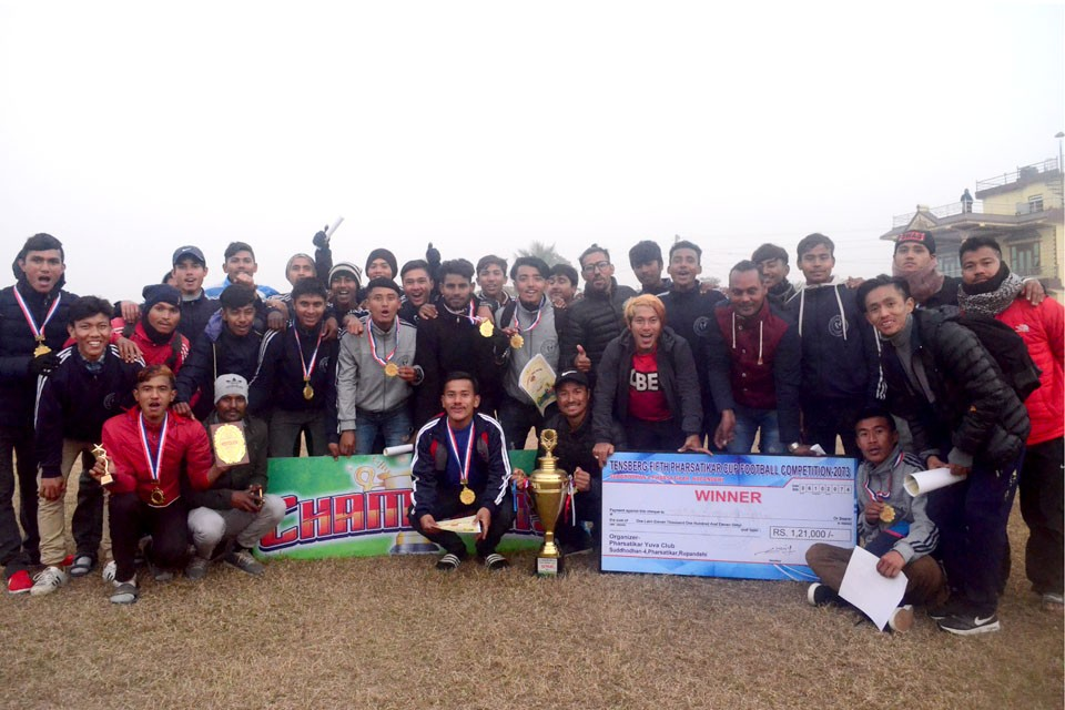 Rupandehi: Hosts Pharsatikar Club Wins Title Of 5th Pharsatikar Cup