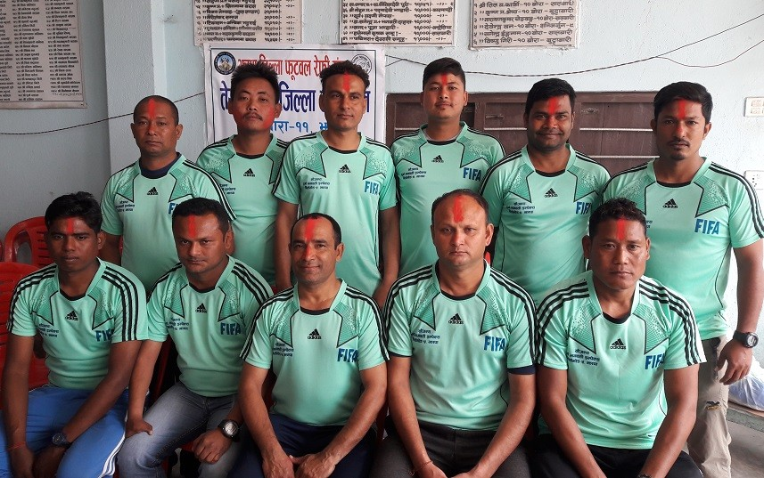 Jhapa: Pradip Basnet Re-elected President Of Jhapa District Referee Association