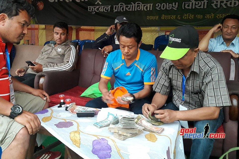 Mai Valley FC Collects Rs 2,74,000 From Jhapa XI Vs Nepal APF Match