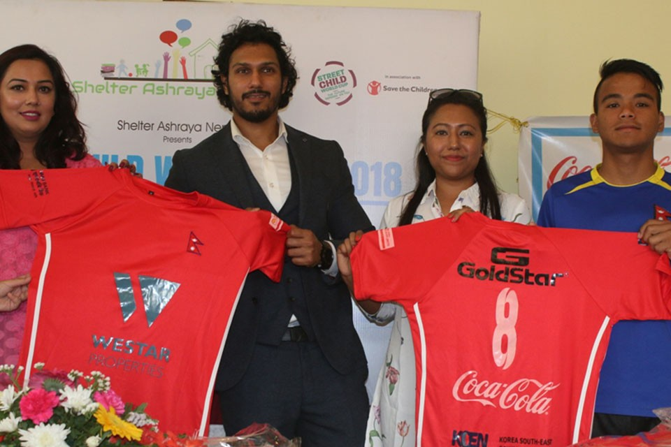 Shelter Ashraya Nepal Reveals Jersey For Street Child World Cup