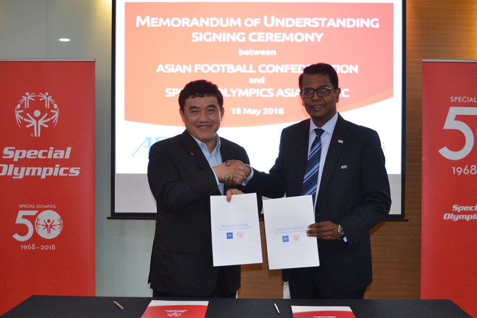 AFC and Special Olympics Asia Pacific Announce Partnership