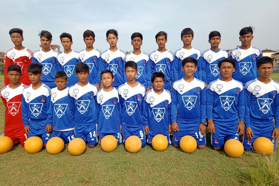 GoalNepal Foundation Motivates Hetauda Football Academy With 20 Jerseys, 20 Socks & 10 Indestructible Footballs