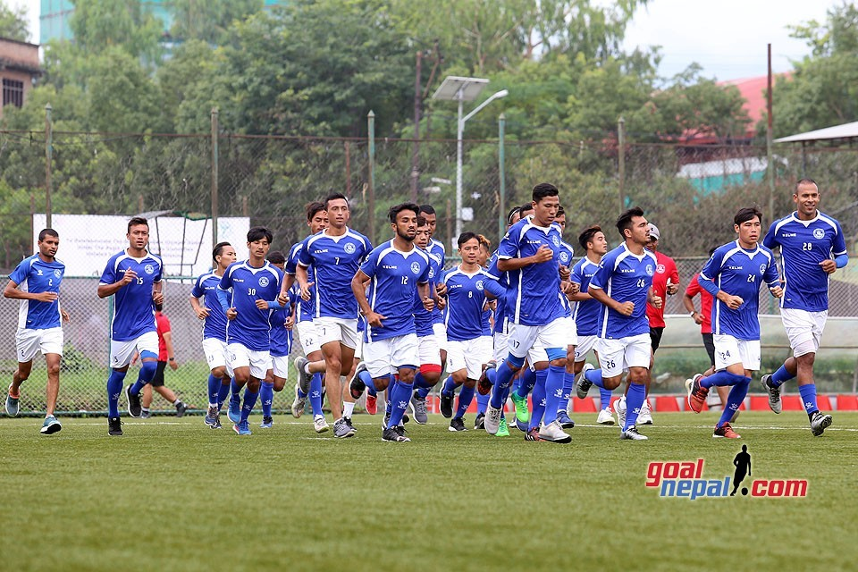 Gorkhalis Hold Stretching Session At ANFA Complex (PICTORIAL)