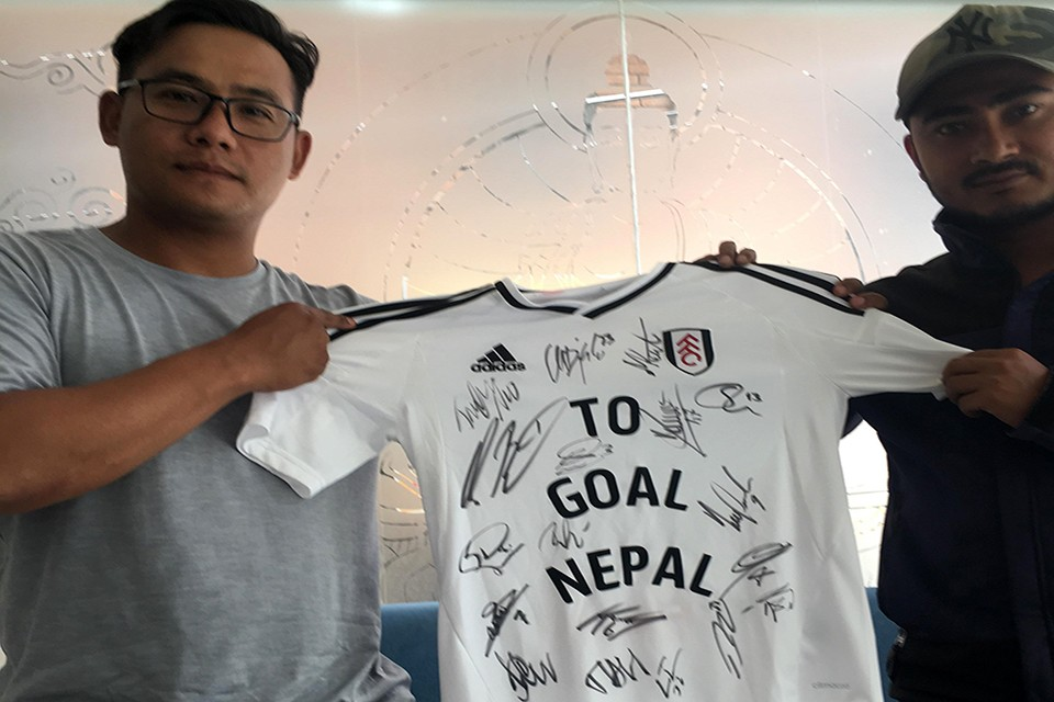English Premier League Side Fulham FC Sends Love To GoalNepal
