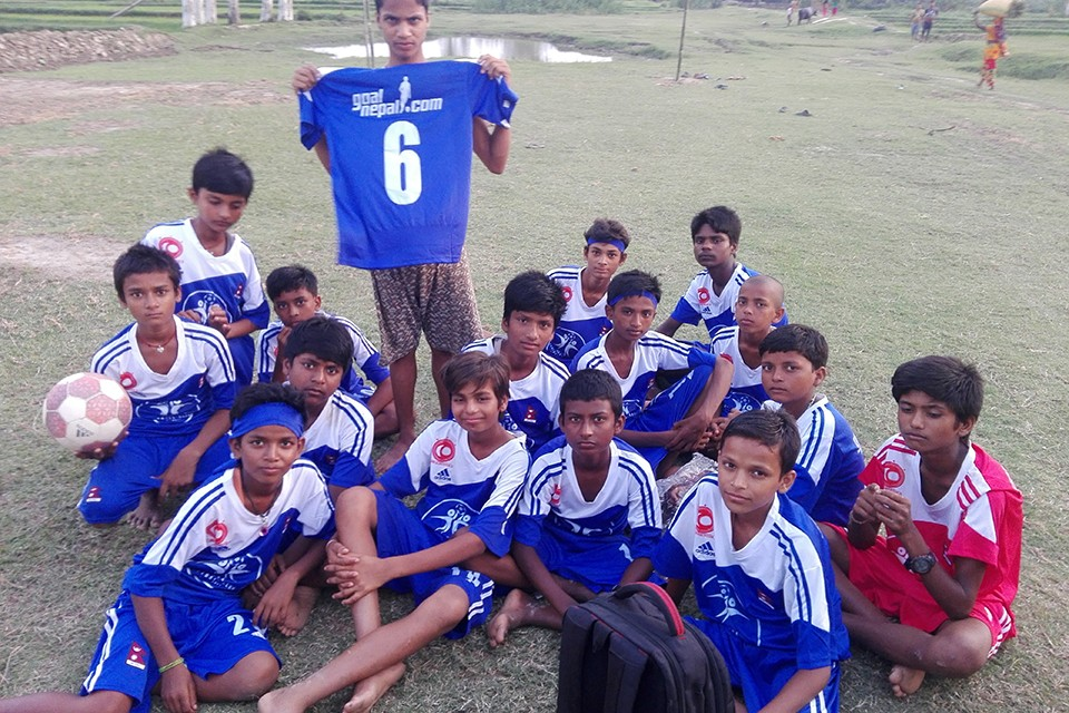 GoalNepal Foundation Motivates Bagchaura Football Team, Dhanusha With 25 Jerseys, 25 Socks & 10 Adidas Footballs
