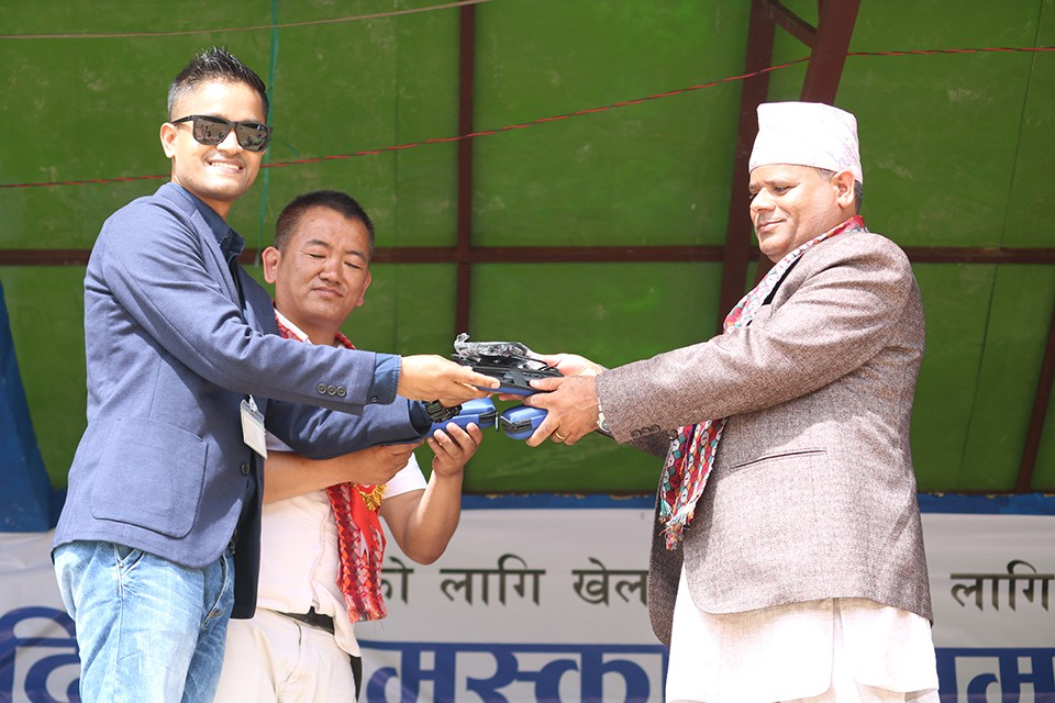 GoalNepal Foundation Donates Radio Communication Set To Referees Of Taplejung District