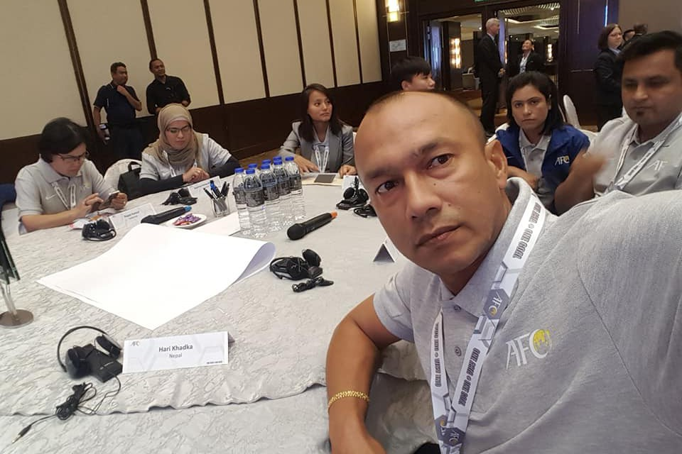 Nepal National Women's Team Coach Hari Khadka Taking Part In 2nd AFC Women's Football Dev Seminar