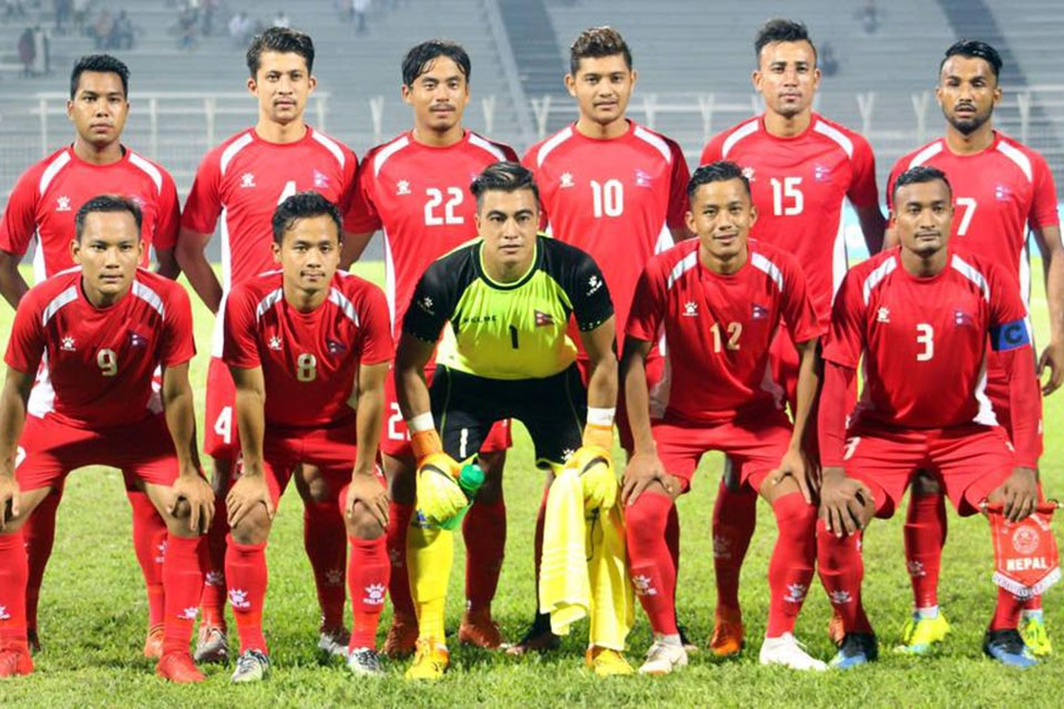 863724823 Nepal will play against Palestine in the last match of the group in 5th  Bangabandhu gold cup on October 6.