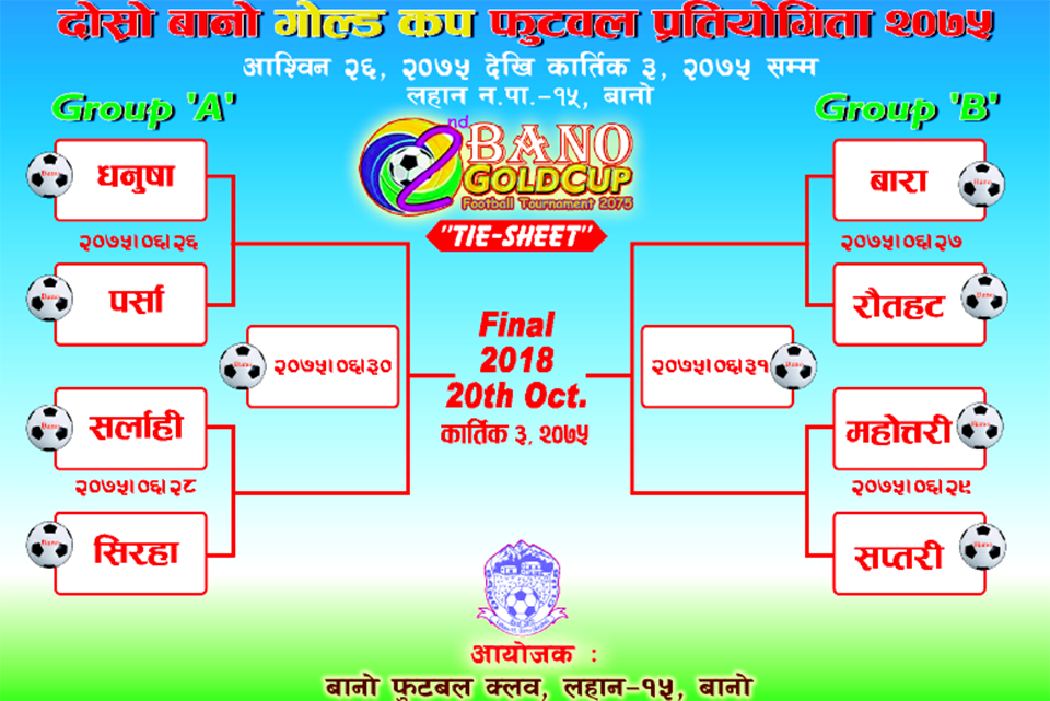 Siraha: 2nd Bano Gold Cup From Today