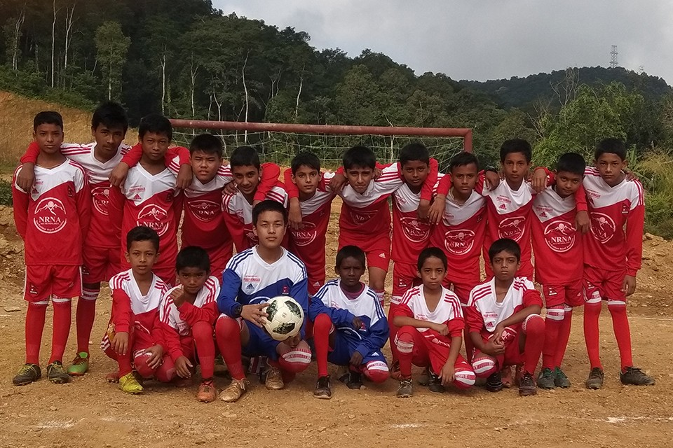 GoalNepal Foundation Donates 10 Indestructible Footballs, 20 Jersey Set To Ananta Youth Club, Tanahun