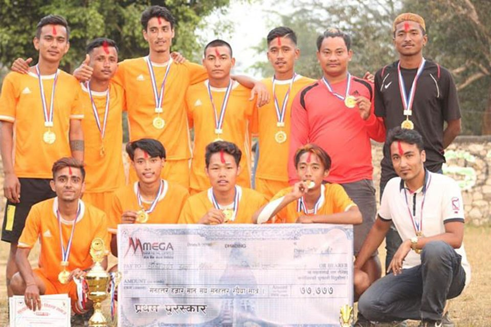 Dhadhing: Danda Gaun Wins Title Of Salyantar Open Football Championship