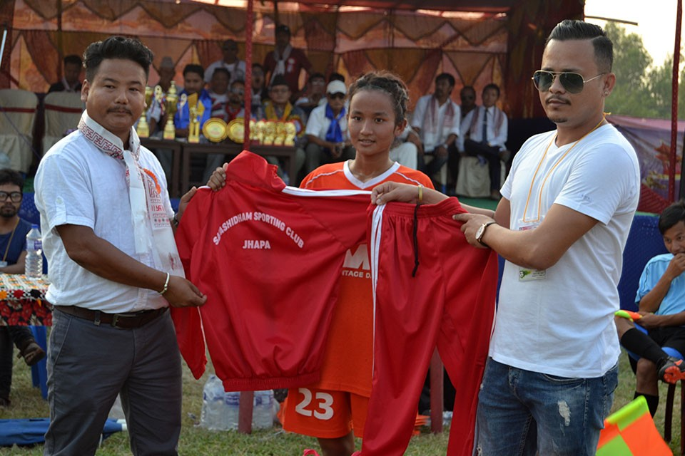 Jhapa: Abinash Kharel Supports Satashidham Sporting Club Women's Team