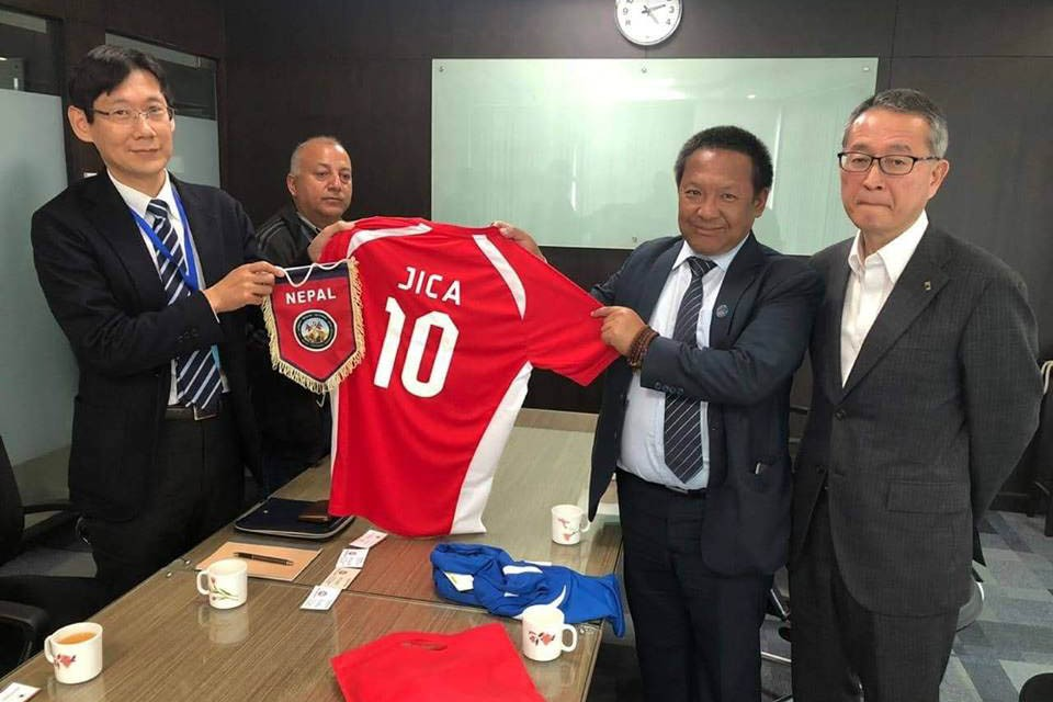Delegation From ANFA Meet Chief Rep Of JICA To Discuss About Football Development