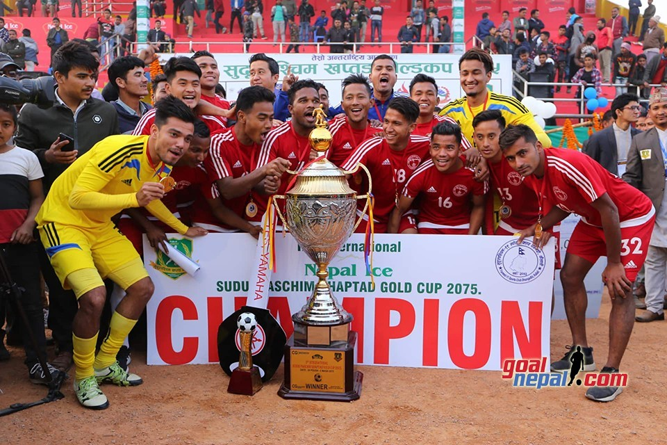 NPC Beats Ruslan Three Star Club To Lift Title Of Nepal Ice Far West Khaptad Gold Cup