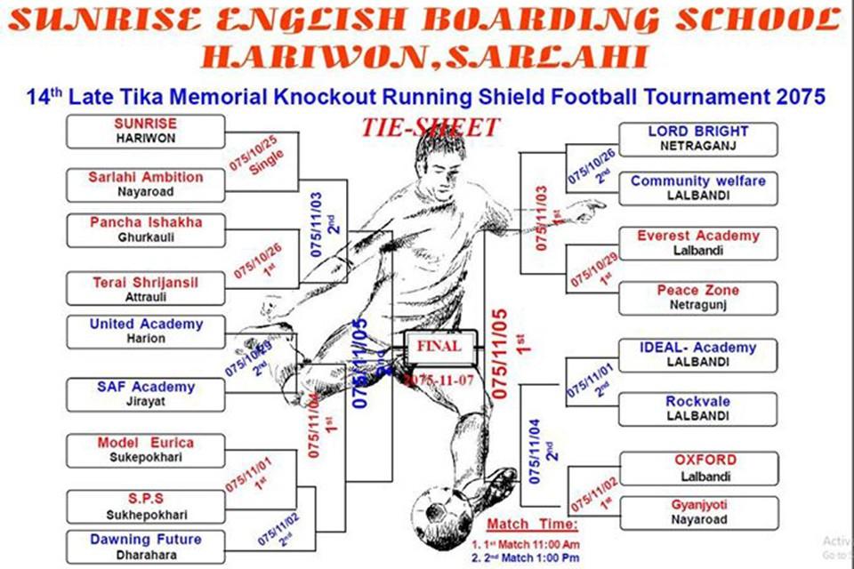 Sarlahi: 14th Late Tika Memorial Knockout Running Shield From Tomorrow