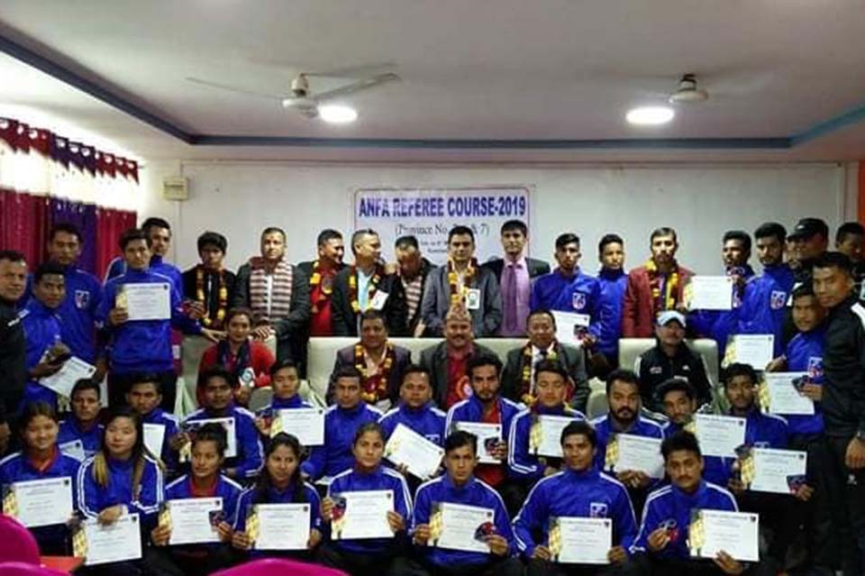 ANFA Referee Course Concludes In Kanchanpur