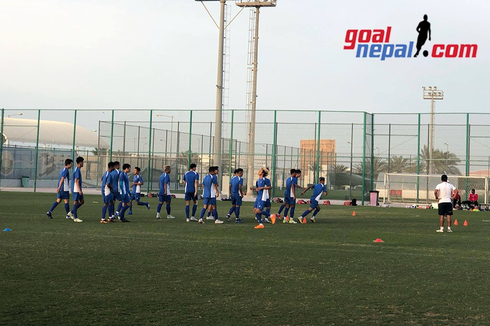 Nepal U23 Team Holds First Training Session In Doha