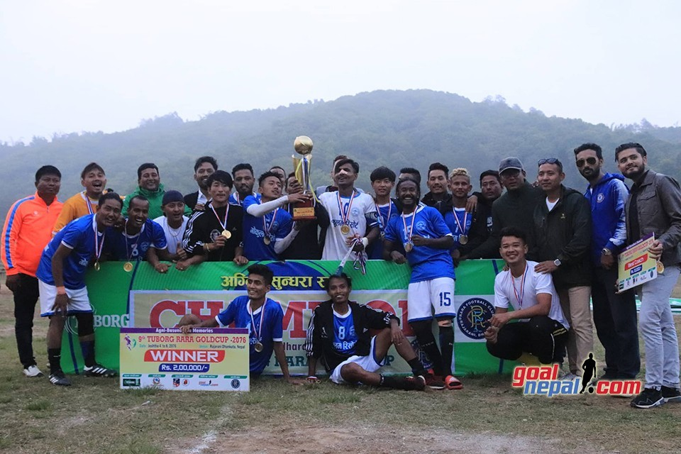 Sagarmatha Youth Club Biratchowk Wins Title Of 9th Tuborg Agni Basundhara Rara Cup