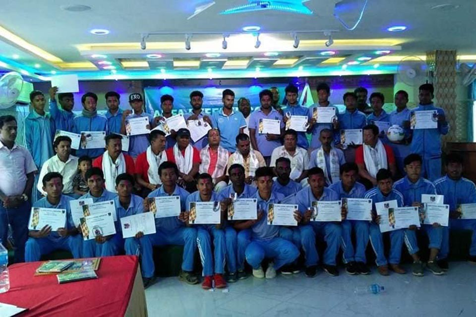 Siraha: Province 2 ANFA Referee Course Concludes In Lahan