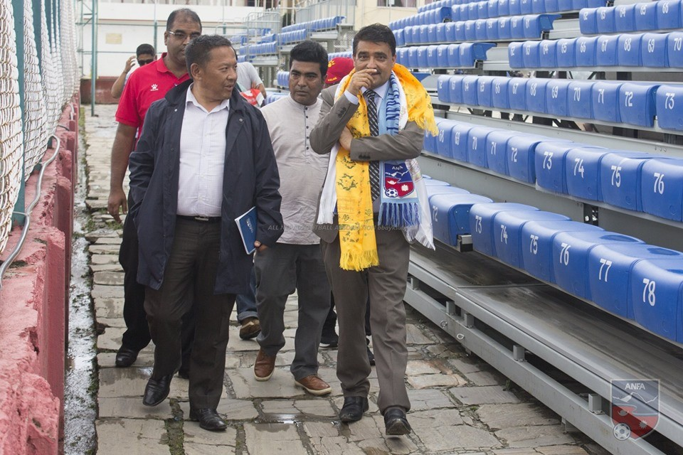 ANFA Welcomes Newly Appointed Member Secy Silwal To ANFA Complex