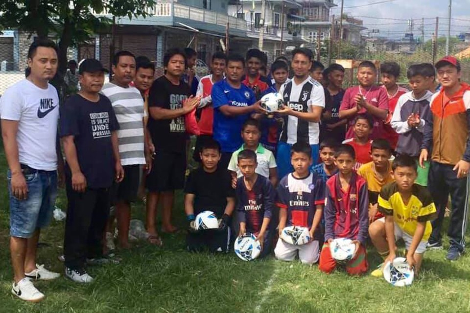 Kaski: Sangam Club Starts Football Training Program