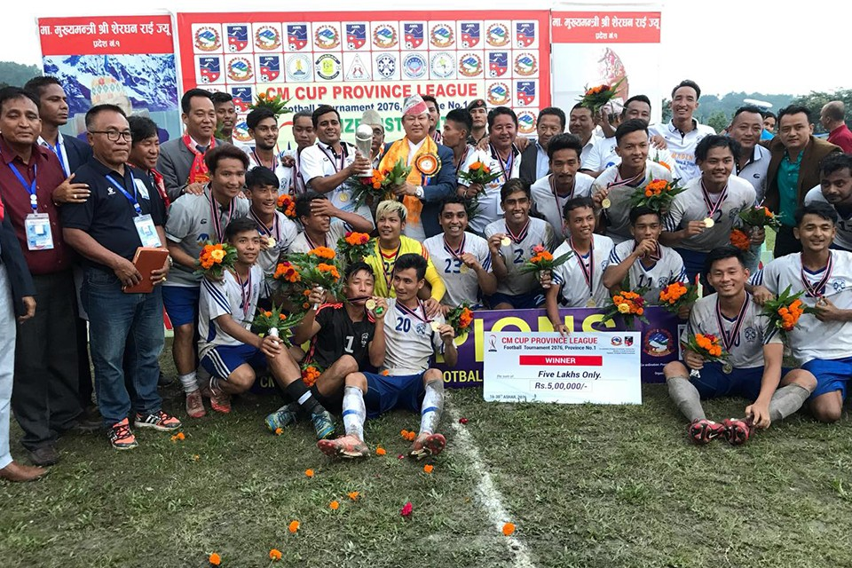 Sainik Youth Jhapa Wins Title Of Province 1 CM League