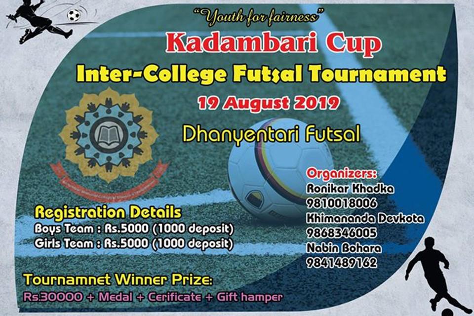 Kathmandu: Kadambari Cup On August 19