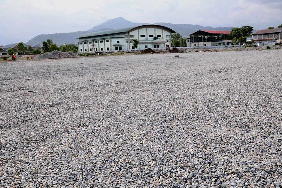 National Sports Council Officially Directs Contractor To Lay Natural Grass At Pokhara Stadium