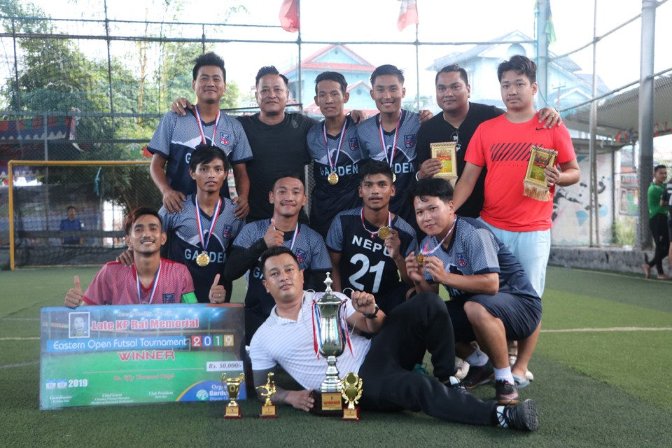 Sunsari: Garden FC Wins Title Of KP Rai Memorial Futsal Tournament