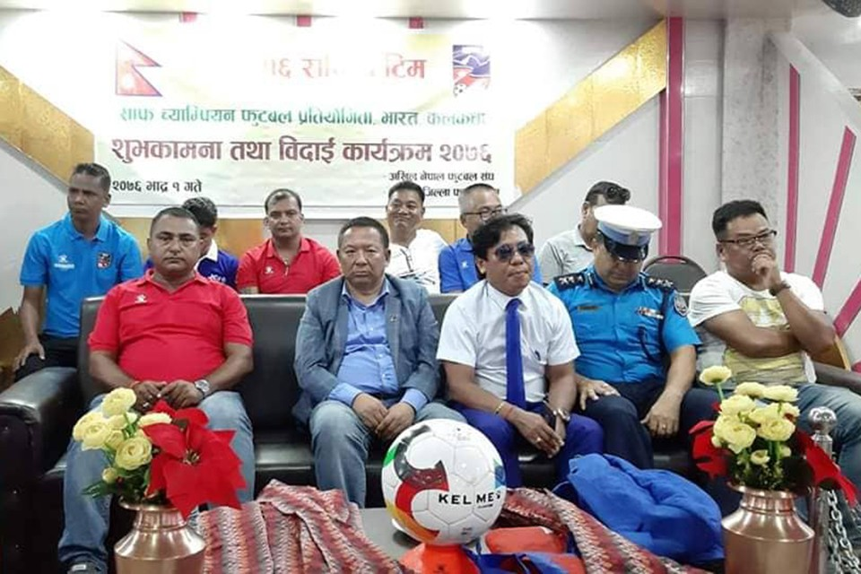 ANFA Bids Nepal U15 Team Farewell To Kolkata, India