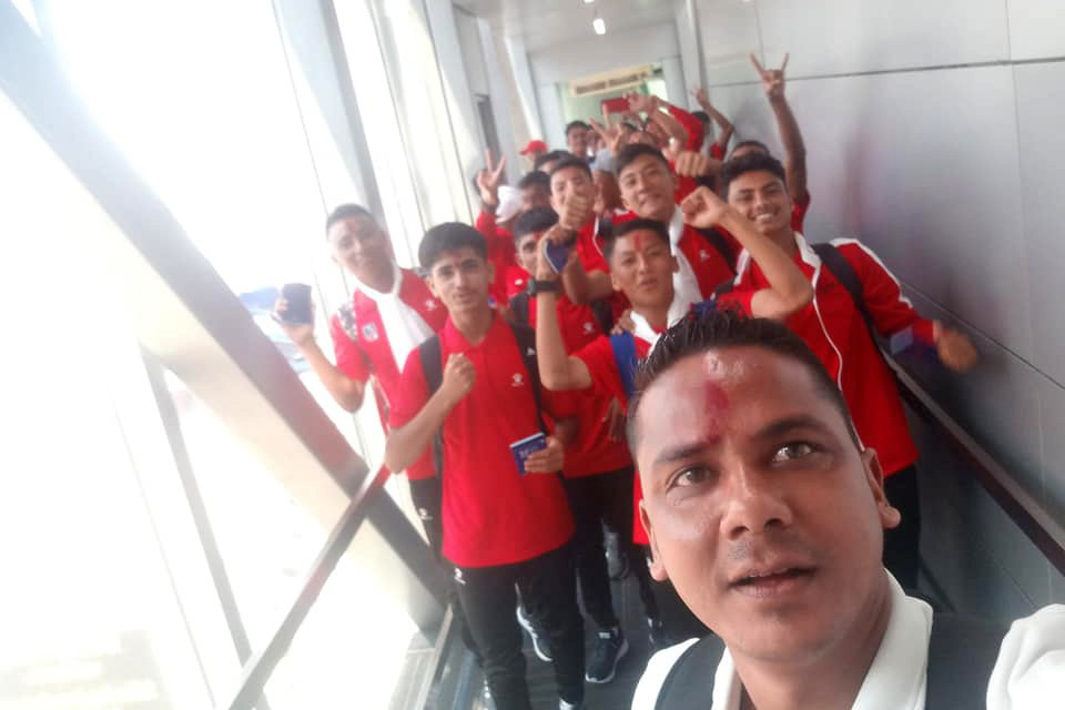 Nepal U15 Lands Kolkata, India For SAFF U15 Championship