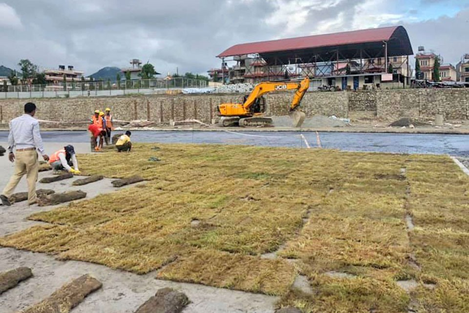Contractors Speed Up Construction Of Pokhara Stadium