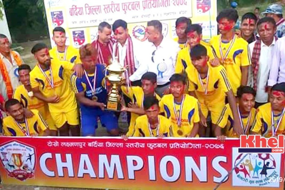 Bardiya: Beltari Yuwa Club Wins Title Of 2nd Laxmanpur Cup
