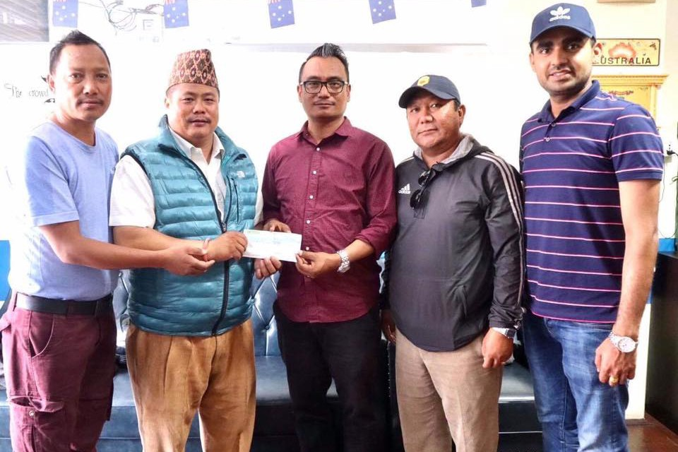 Sahara Australia Hands Over Nrs 77,610 To Sahara Club Pokhara