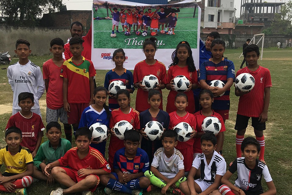 GoalNepal Foundation Provides 25 Original Adidas Footballs To Kids In Parsa District