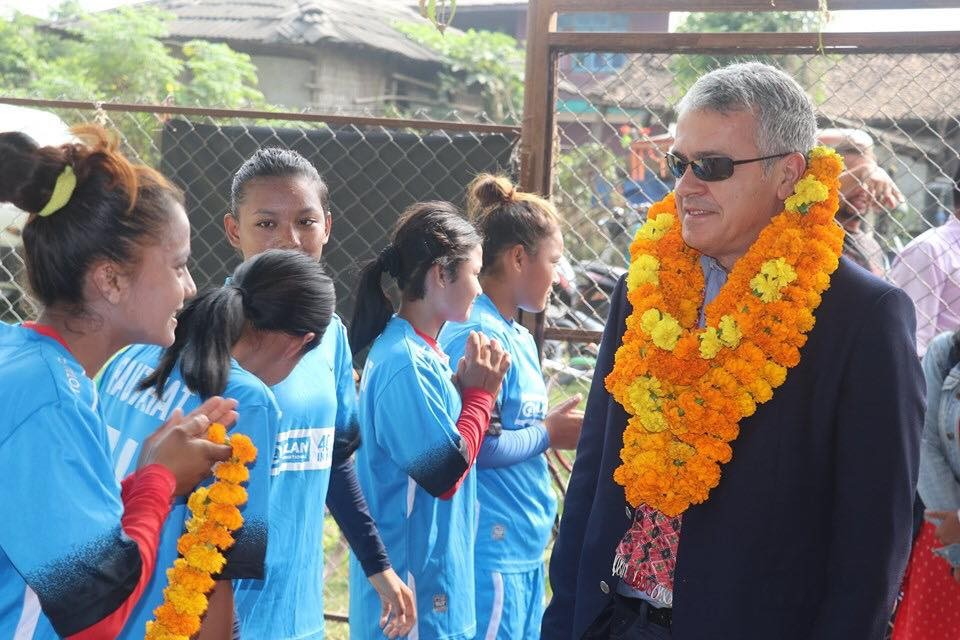 FIFA Officials Inspect Women's Football Academy In Chapur, Rautahat