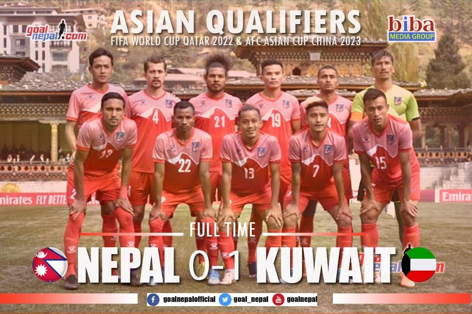 Nepal Fails To Take Thimphu Advantage; Lose 1-0 To Kuwait