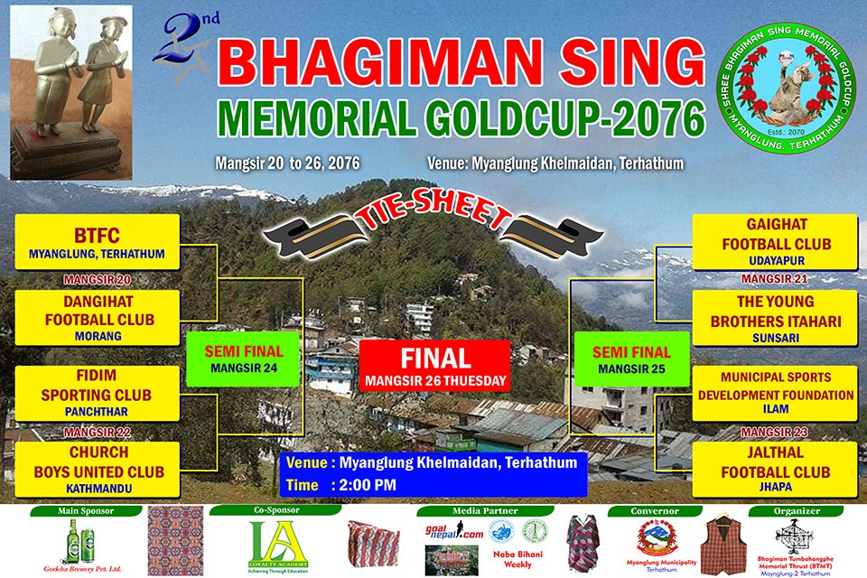 Terathum: 2nd Bhagiman Sing Tumbahangphe Memorial Gold Cup From Tomorrow