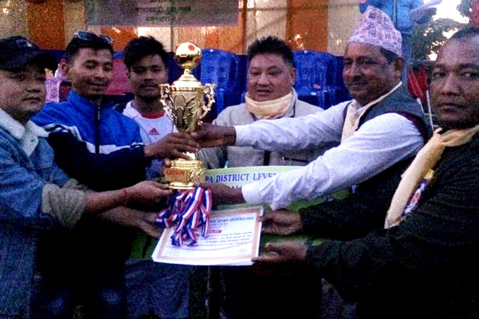Jhapa FC Wins Title Of Jhapa District Wide Knockout Championship