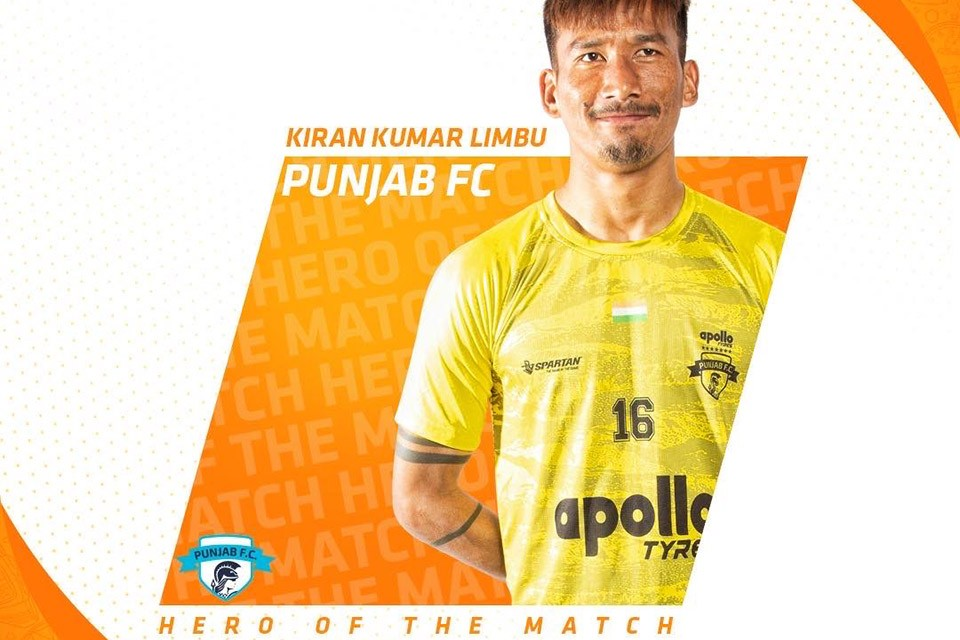 Nepal No 1 Kiran Chemjong Adjudged Hero Of The Match For Minerva Punjab FC
