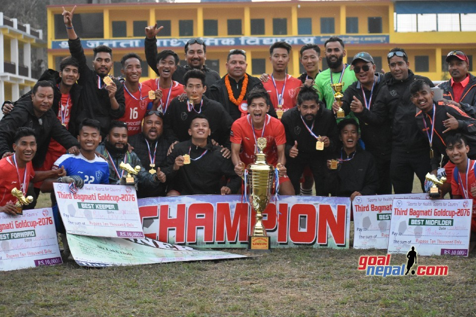 Jawalakhel Youth Club Wins Title Of 3rd Bagmati Gold Cup