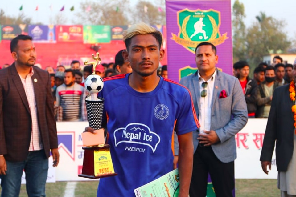Bikram Singh Thakuri Adjudged The MVP; Receives One Bike