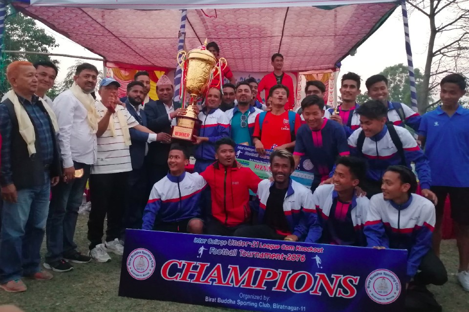 Morang: Nehareeka College Biratnagar Wins Title Of Inter College U21 Championship