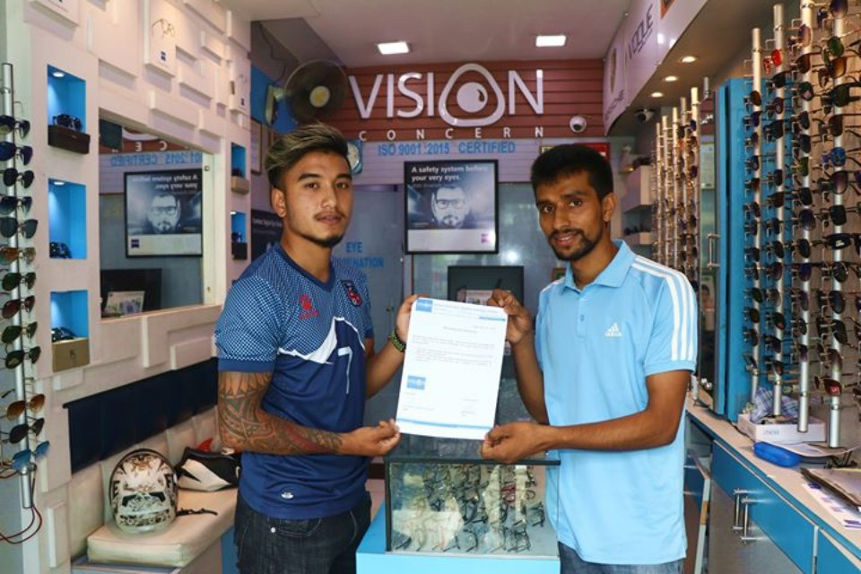 Nepal International Abhisek Rijal Endorses Vision Concern
