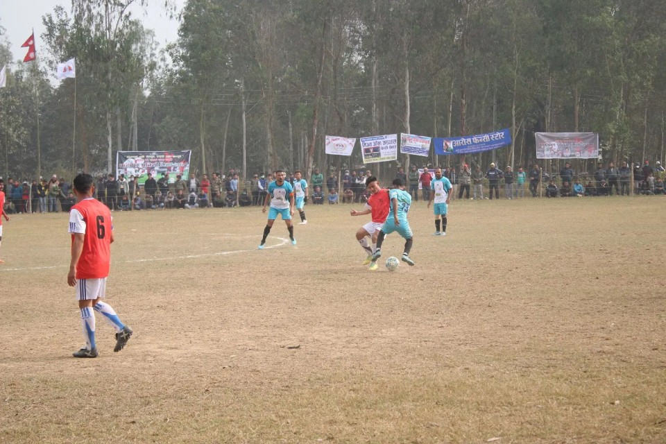 Banke: Dhamboji Sports Beats Jay Kisan Sports Club In Shyam Thapa Memorial Cup