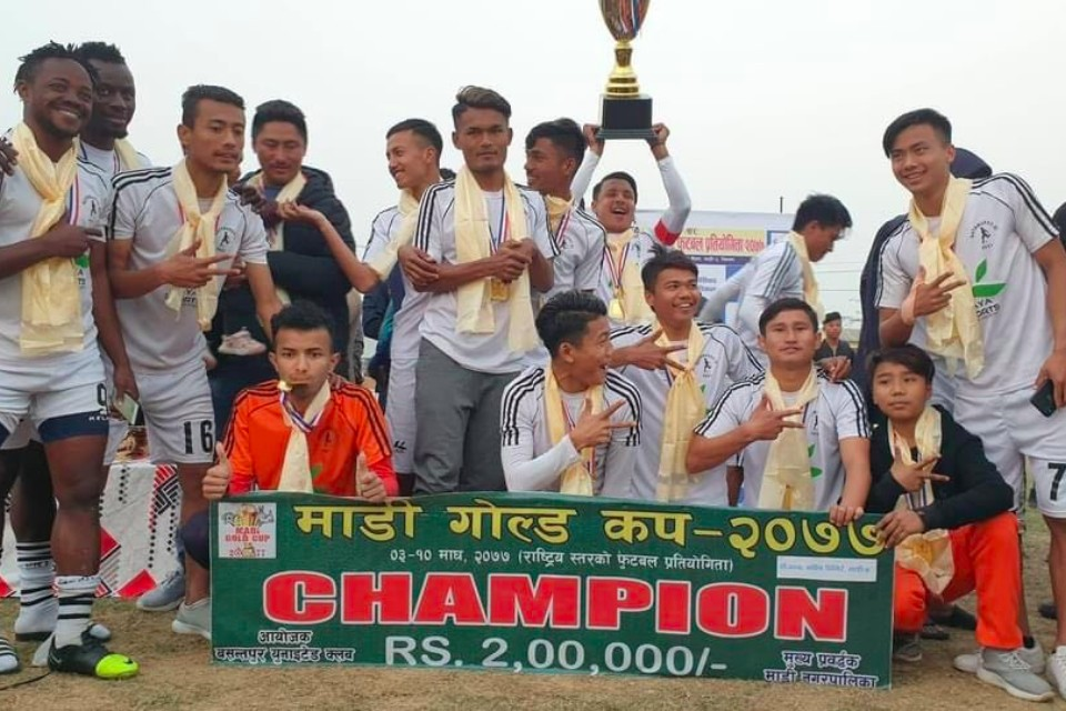 Kathmandu XI Wins Title Of 2nd Madi Gold Cup