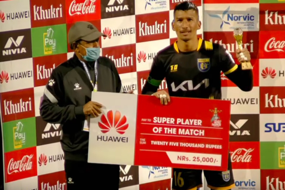 Kiran Chemjong Is The Super Player Of The Match